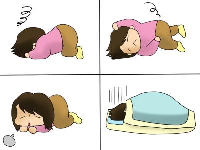 眠気に勝てず。ぐっすり更年期母さん